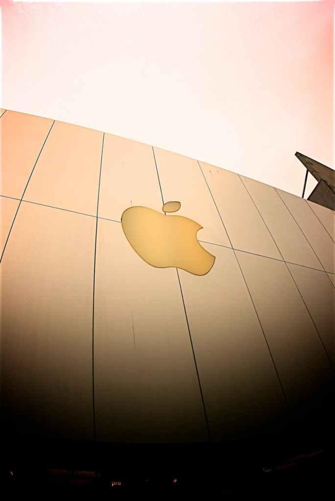 apple brand logo signage